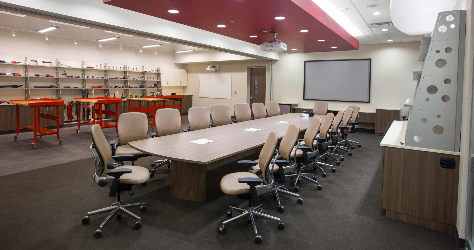 NBS Construction Solutions Board Room Soffit Interior