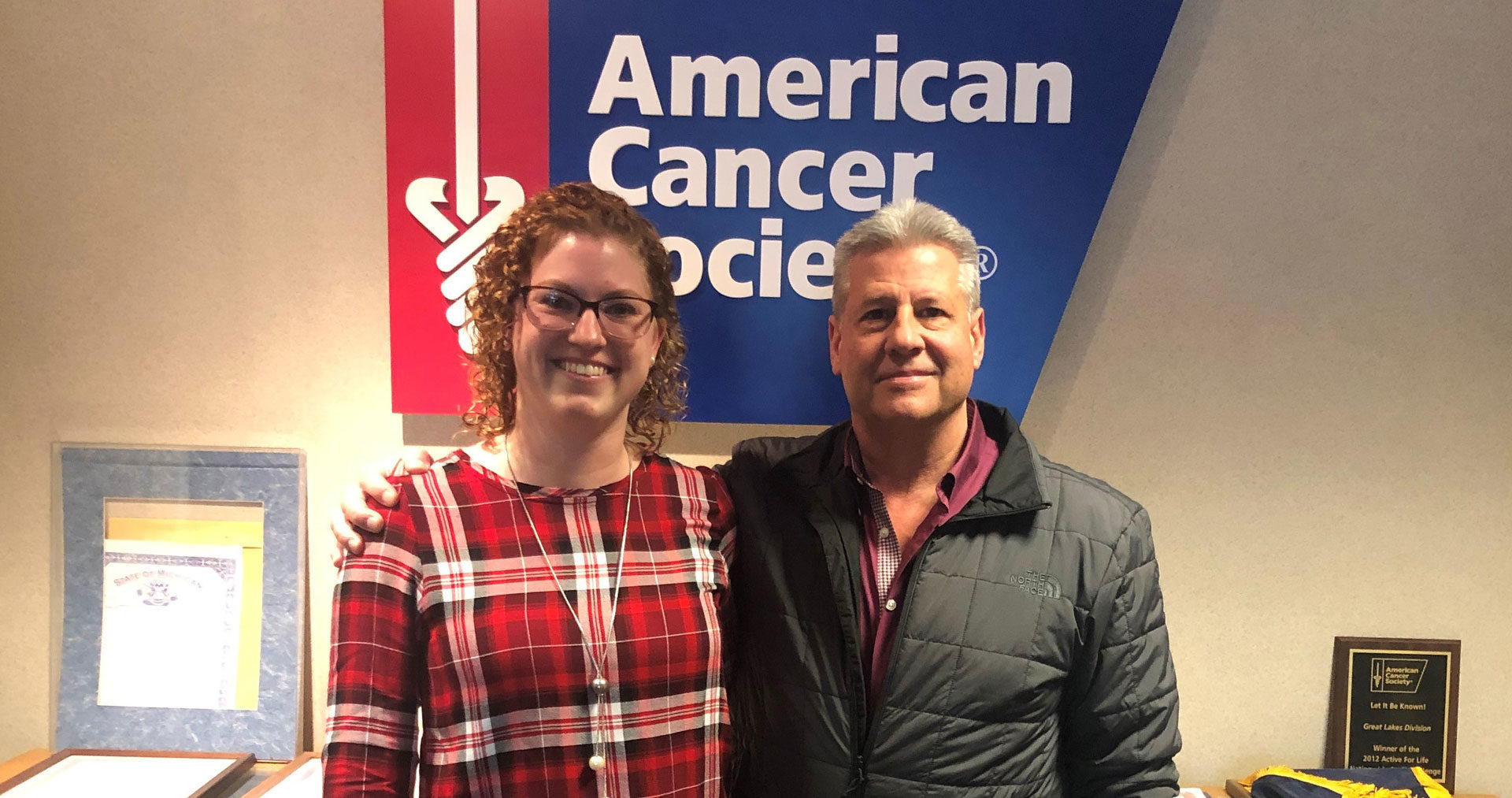 NBS_Community_2019_Colleen-and-Lance_donating-check-to-American-Cancer-Society