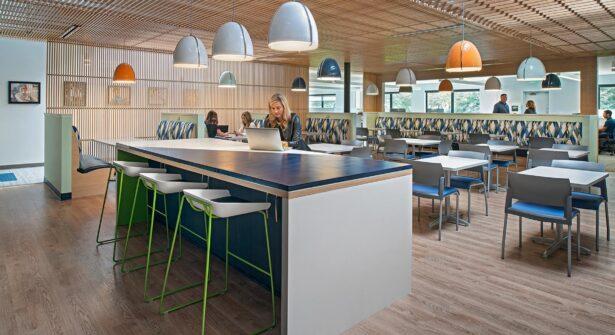 NBS MORC - The café is a favorite spot in the building.