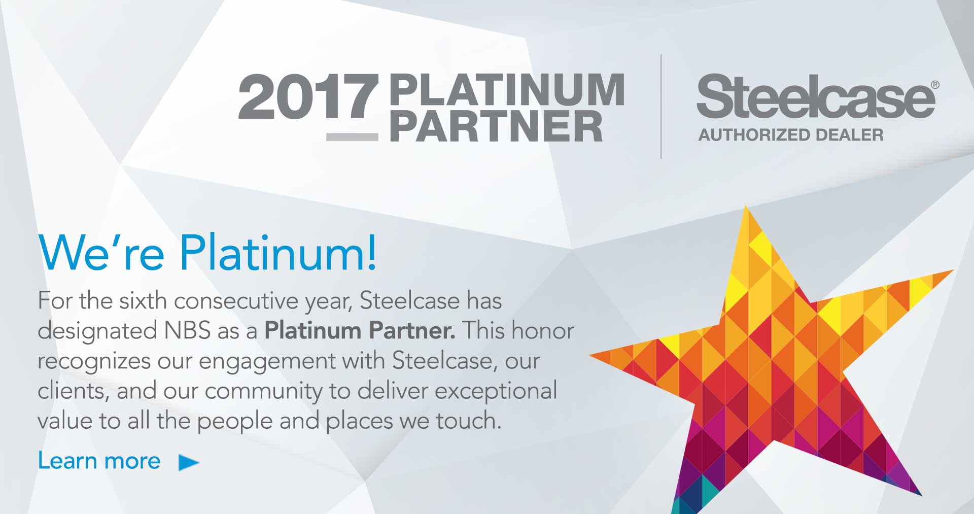 NBS Steelcase Platinum Partner 2017