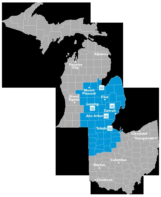 NBS Service Area