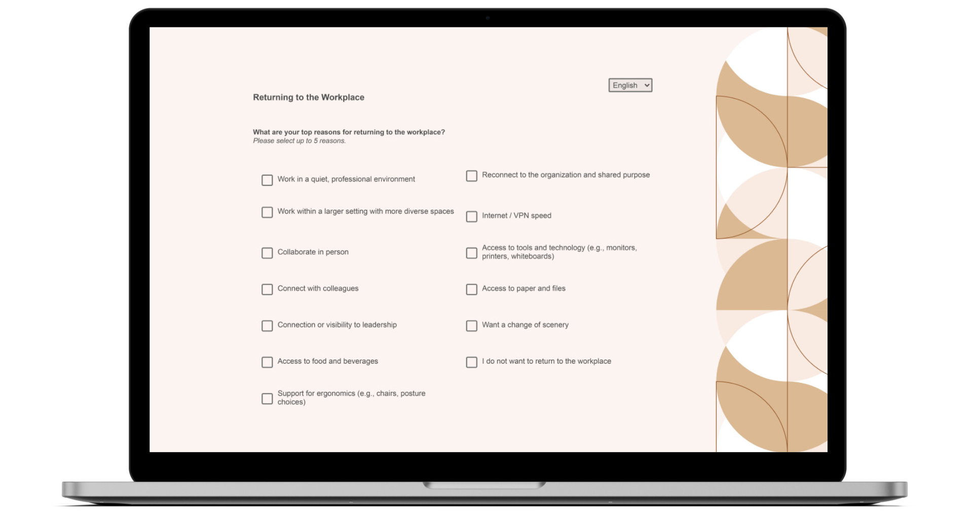 Take a demo of the NBS Steelcase Workplace Survey