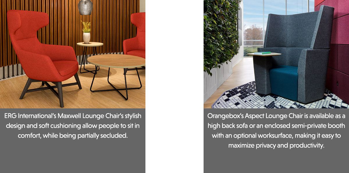 ERG International Maxwell Lounge Chair and Orangebox Aspect Lounge Chair